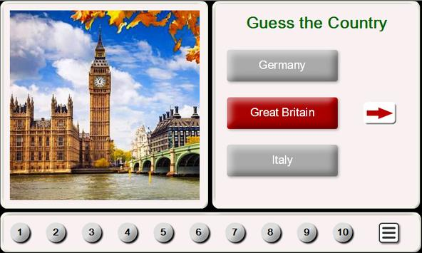 Guess the Country. Tile Puzzle poster
