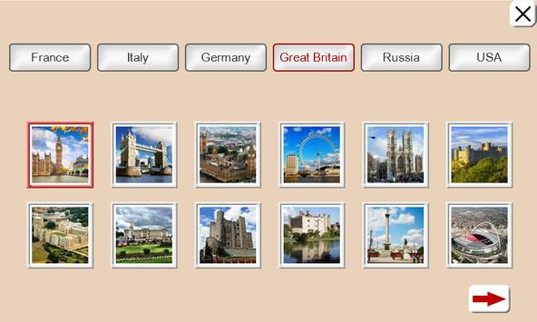Guess the Country. Tile Puzzle screenshot 1