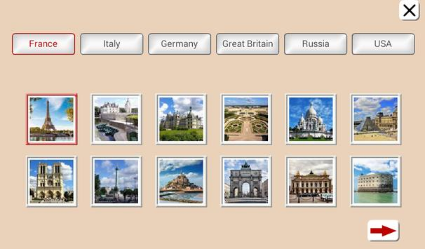 Guess the Country. Tile Puzzle screenshot 9
