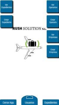 RushSolution administrator screenshot 1