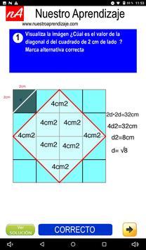 Calculan  la diagonal de cuadrado de 1 cm lado screenshot 3