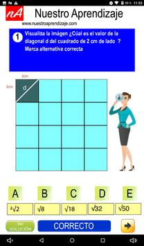 Calculan  la diagonal de cuadrado de 1 cm lado screenshot 7
