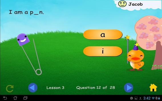 Ducky's Reading Game Starter apk screenshot