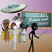 Stickman. School evil - history icon