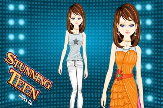 Stunning Teen Girl Dress up poster