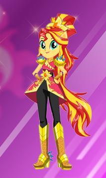 Sunset Shimmer dress up poster