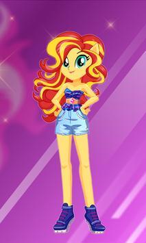 Sunset Shimmer dress up apk screenshot