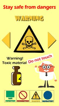 Safety Signs for Kids screenshot 1