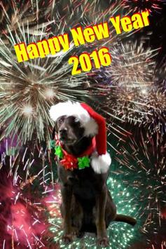 THE SANTA DOG NEW YEARS APP poster