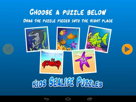 Kids Sea Life Puzzle poster