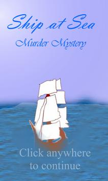 Ship at Sea - Murder Mystery poster