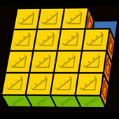 Slide Puzzle with 3D Cubes icon