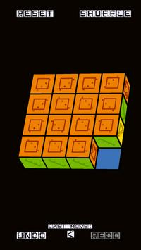 Slide Puzzle with 3D Cubes poster