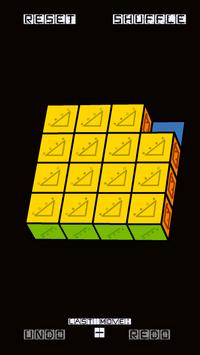 Slide Puzzle with 3D Cubes apk screenshot