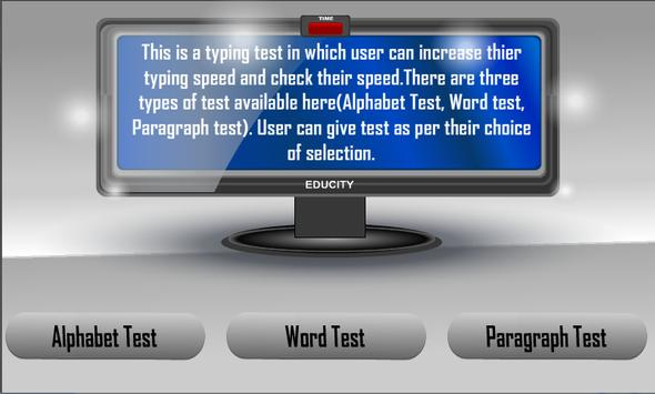 Typing Tutor apk screenshot