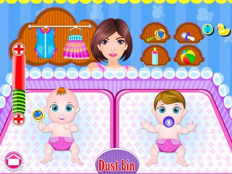 Newborn twins girls games screenshot 6