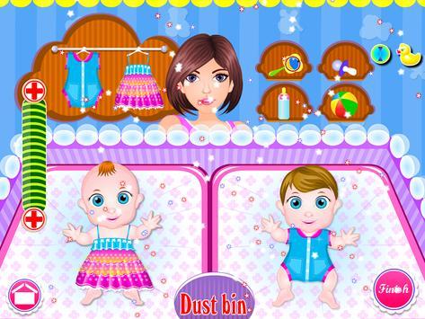 Newborn twins girls games screenshot 7
