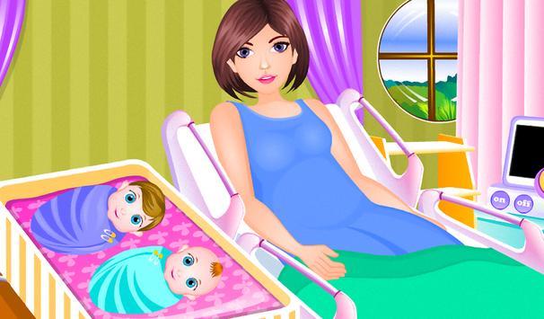 Newborn twins girls games screenshot 8