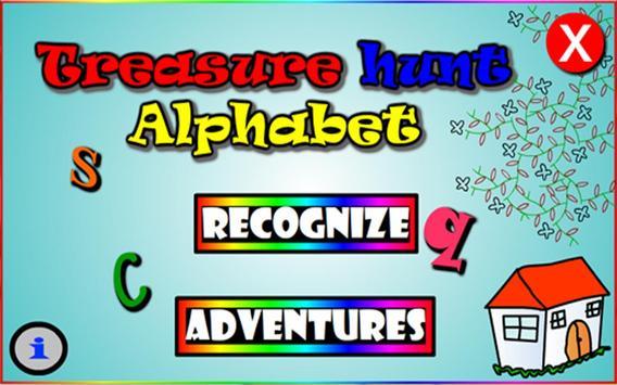 Treasure Hunt Alphabet poster