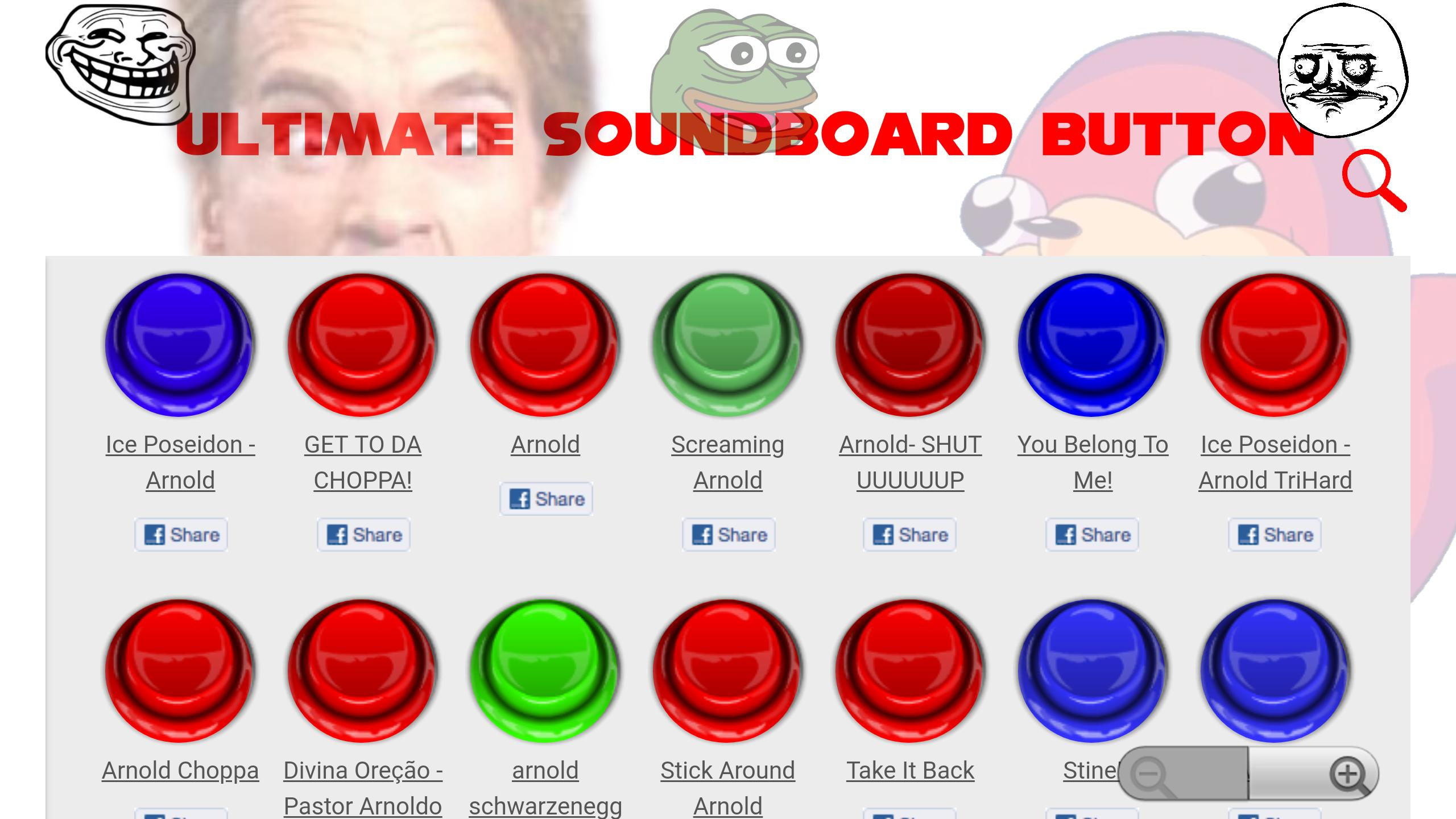 ULTIMATE SOUNDBOARD BUTTON 1000's OF ONLINE MEMES for