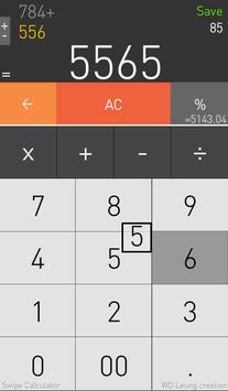 Swipe Calculator apk screenshot
