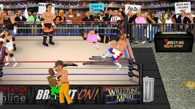 Wrestling Revolution captura de pantalla de la apk