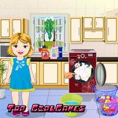 Baby Bella Washing Clothes icon