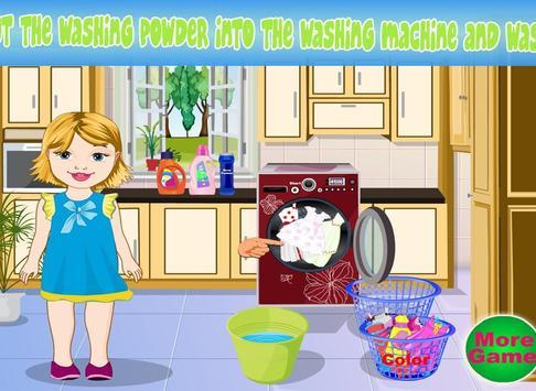 Baby Bella Washing Clothes screenshot 10
