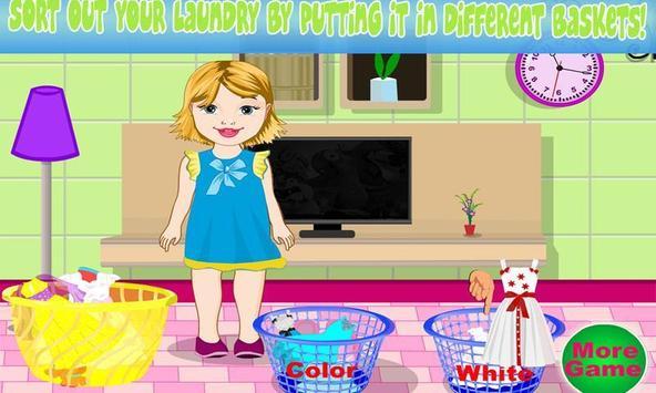 Baby Bella Washing Clothes screenshot 1
