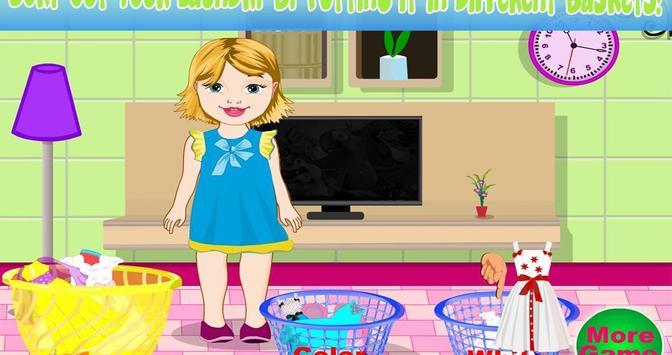 Baby Bella Washing Clothes screenshot 5
