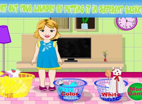 Baby Bella Washing Clothes screenshot 9