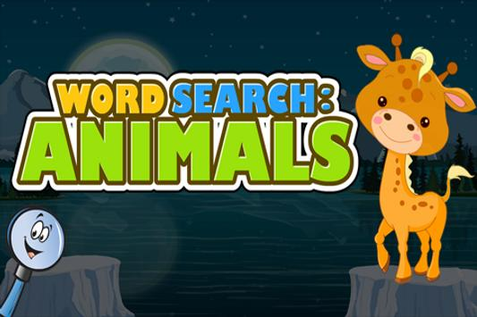 Word Search : Animals poster