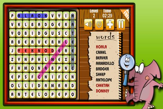 Word Search : Animals apk screenshot