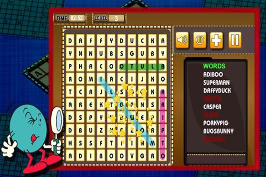 Word Search : Cartoon Names apk screenshot