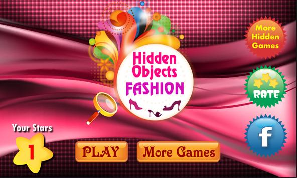 Hidden Objects Fashion Theme poster