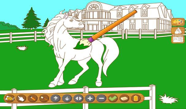 Coloringbook Horses screenshot 9