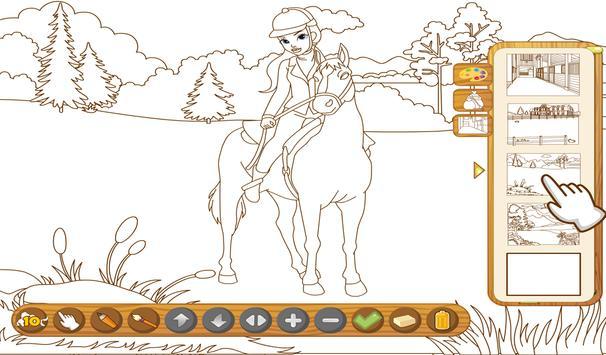 Coloringbook Horses screenshot 10