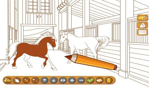 Coloringbook Horses screenshot 1