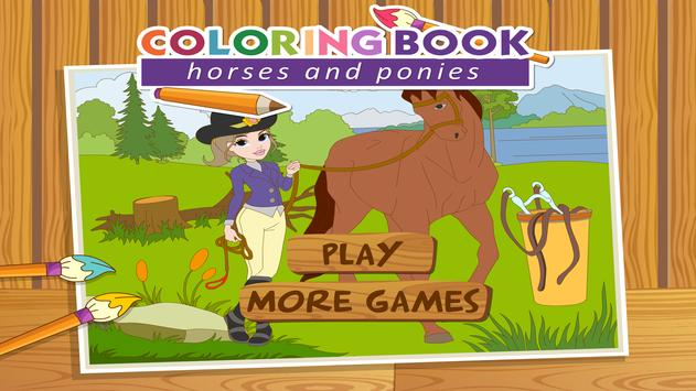 Coloringbook Horses screenshot 4