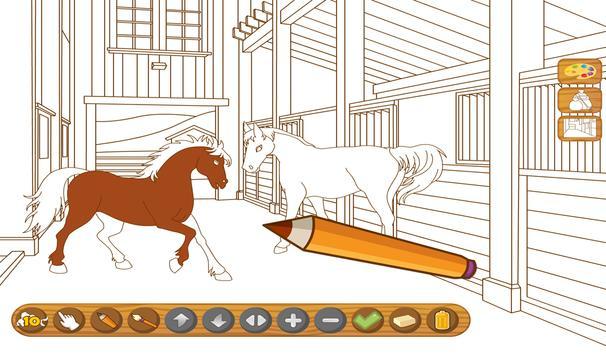 Coloringbook Horses screenshot 8