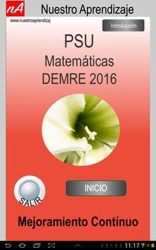 PSU Matemática Prueba Ensayo poster