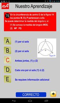 PSU Matemática Prueba Ensayo apk screenshot