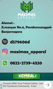 Maximax Apparel Sablon Profil apk screenshot