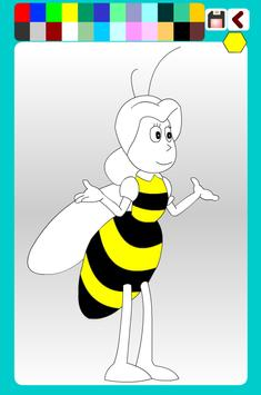 Bee Coloring Game Animals poster