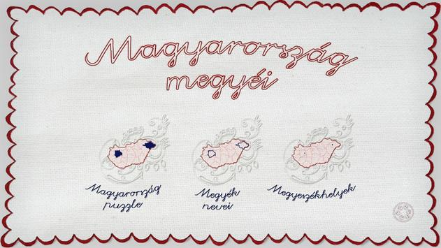 Counties of Hungary poster