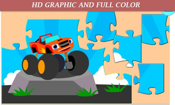 Monster Car Puzzle Kids poster