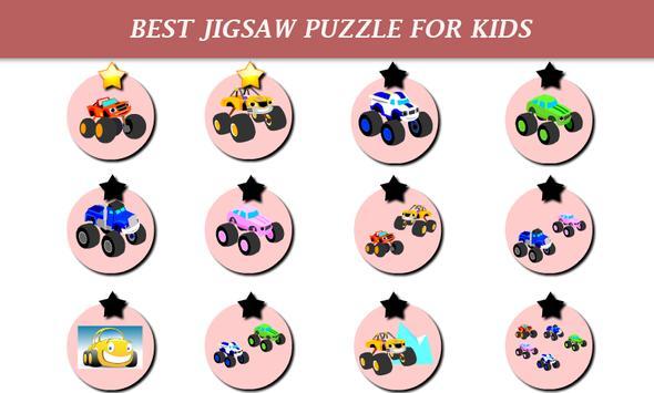 Monster Car Puzzle Kids imagem de tela 1