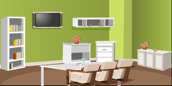 Green Living Room Escape screenshot 2