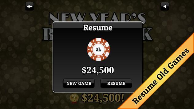 New Year's Blackjack screenshot 4