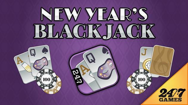 New Year's Blackjack poster